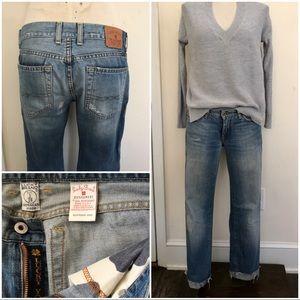 Lucky Brand boyfriend cropped jeans